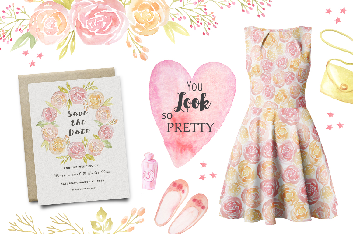 Watercolor Fashion Style Set example image 5