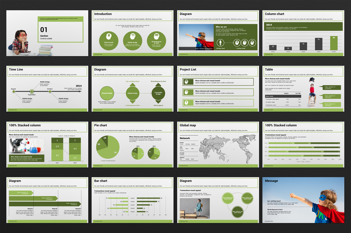 Education PowerPoint Template example image 3