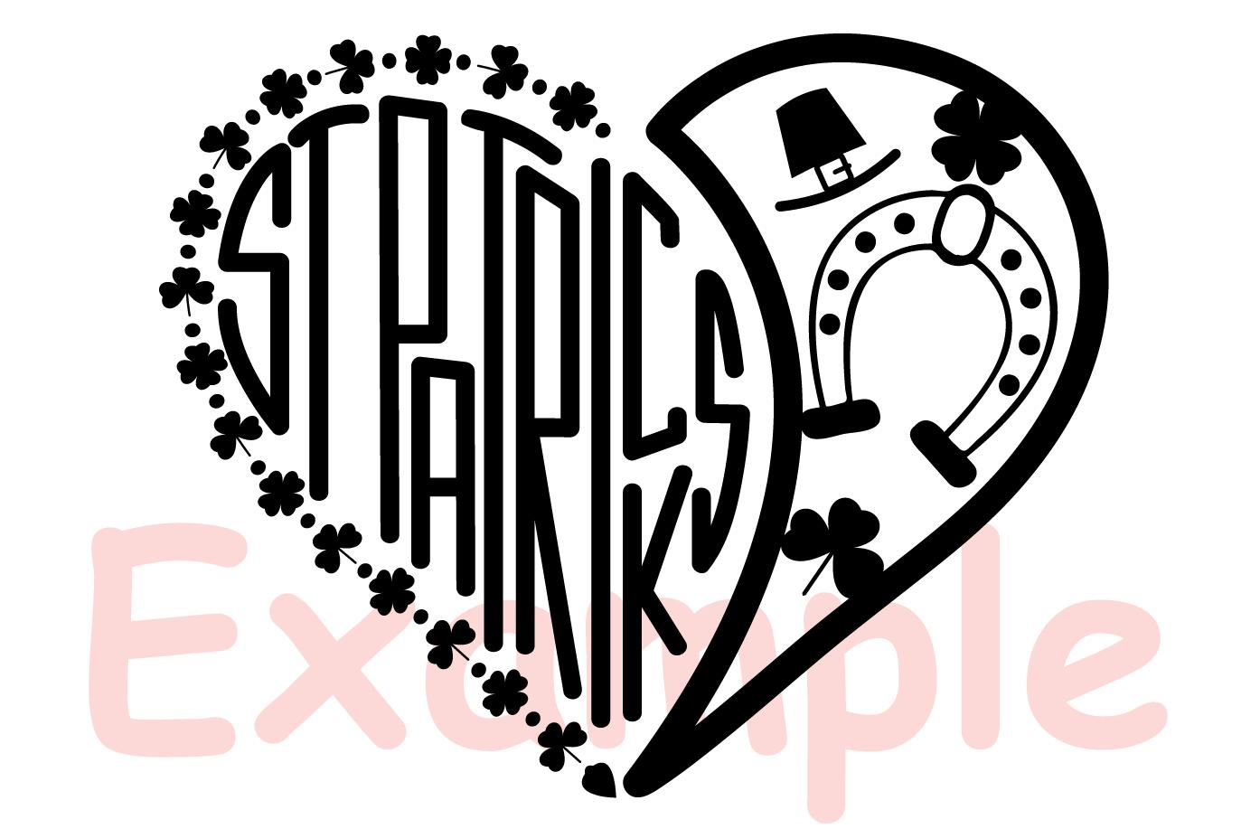 St. Patricks Day SVG love heart Saint -69sv example image 3