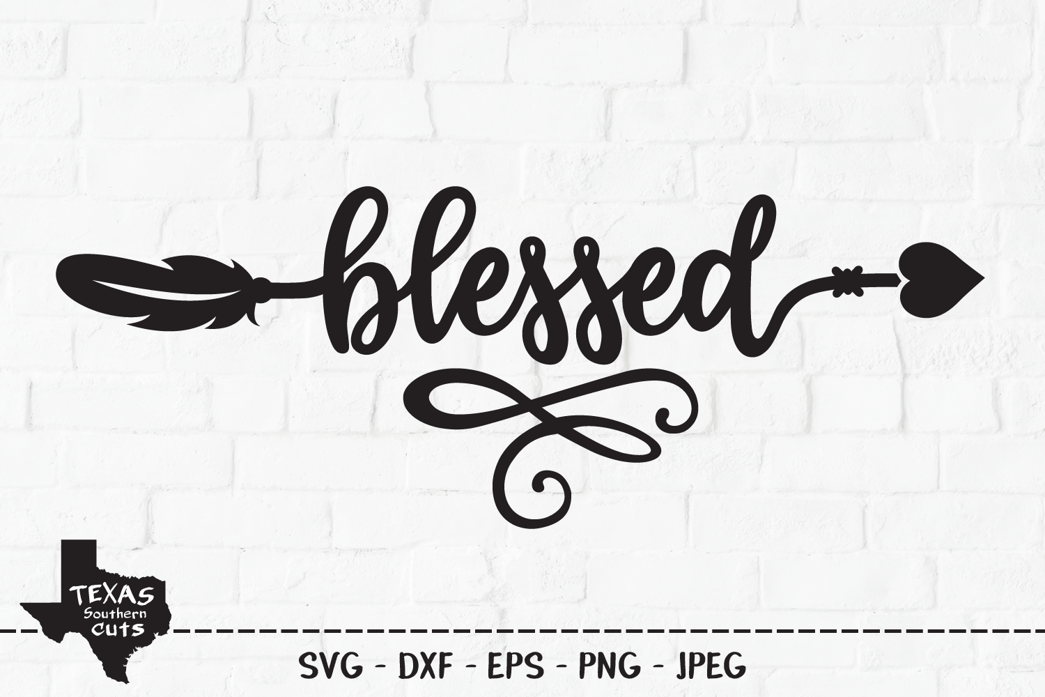 Blessed SVG, Cut File, Thanksgiving Shirt Design, Arrow example image 1