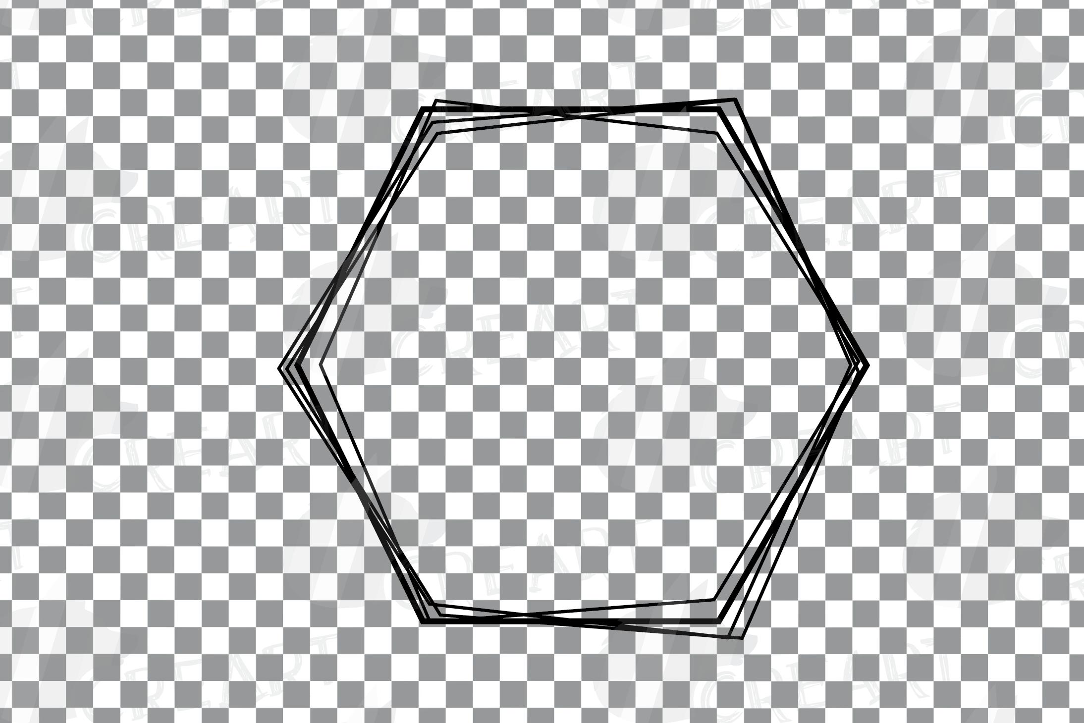 Geometric lineal black frames decor clip art. Wedding border example image 10