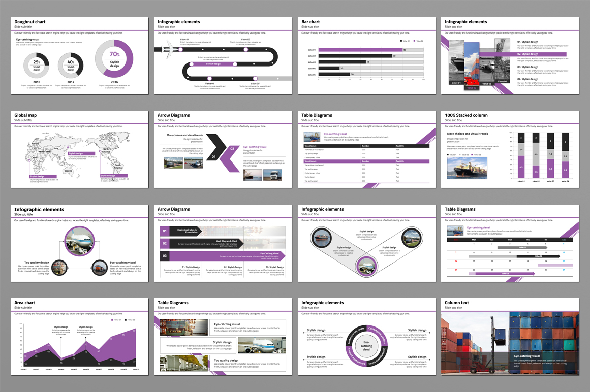 Trade Powerpoint Template example image 4