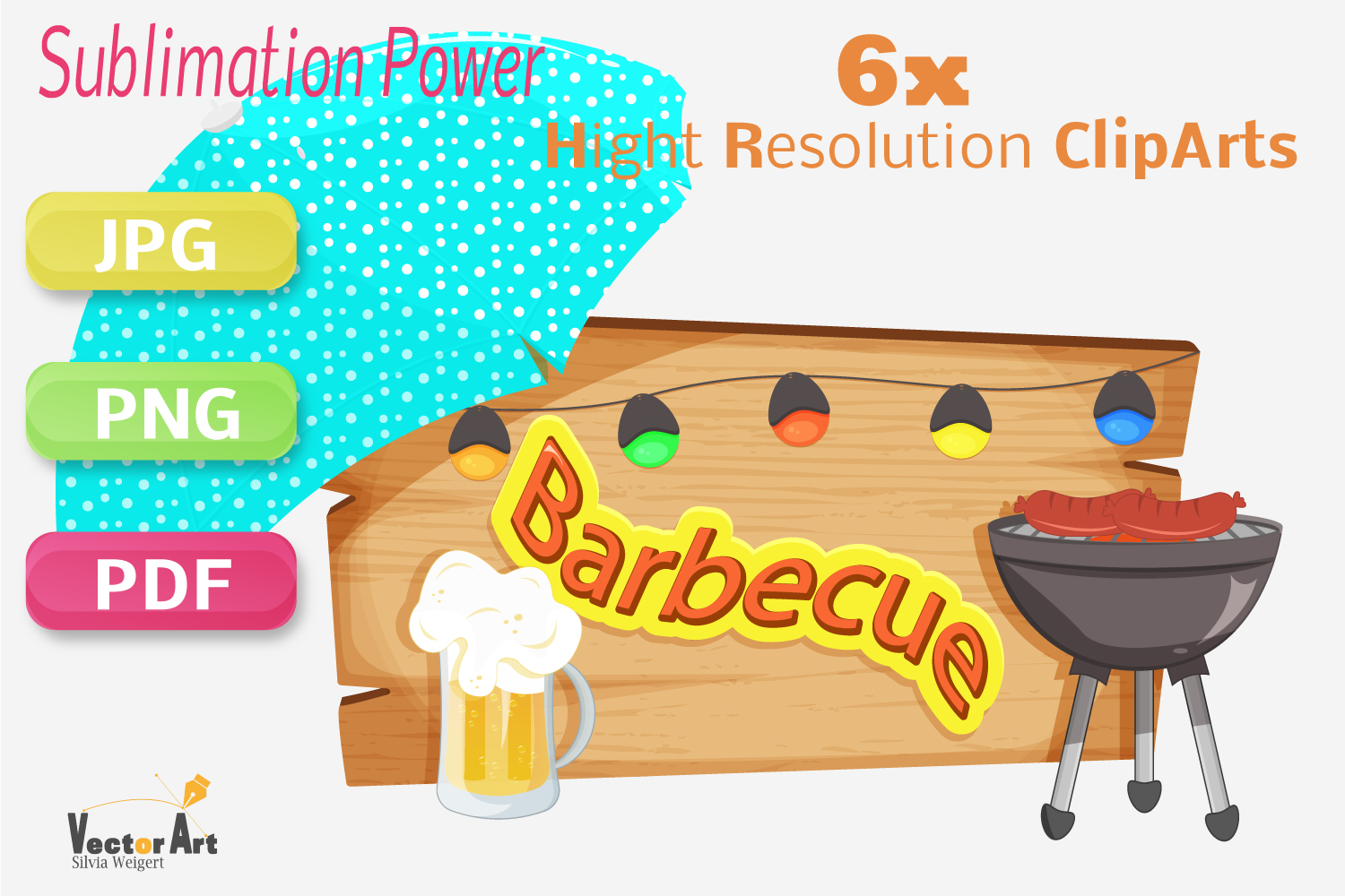 Barbecue - Craft Bundle for Sublimation and Scrapbooking example image 1