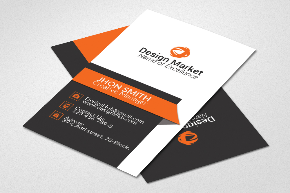 Professional Vertical Business Cards example image 2