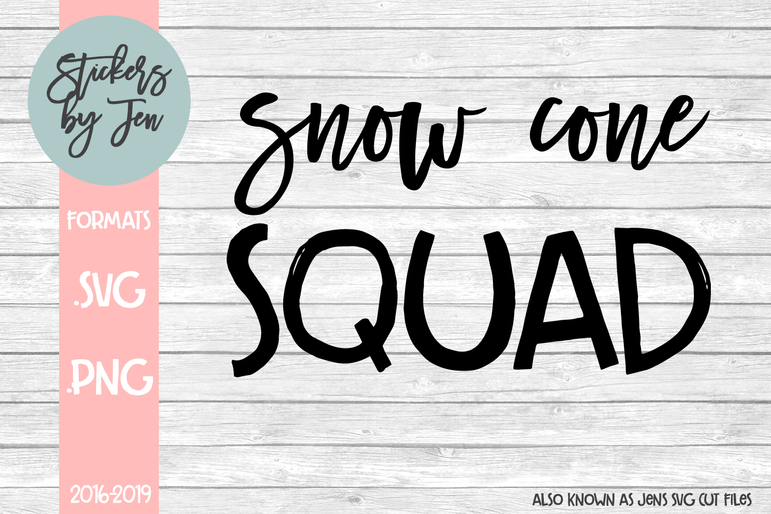 Snow Cone Squad svg cut file example image 1