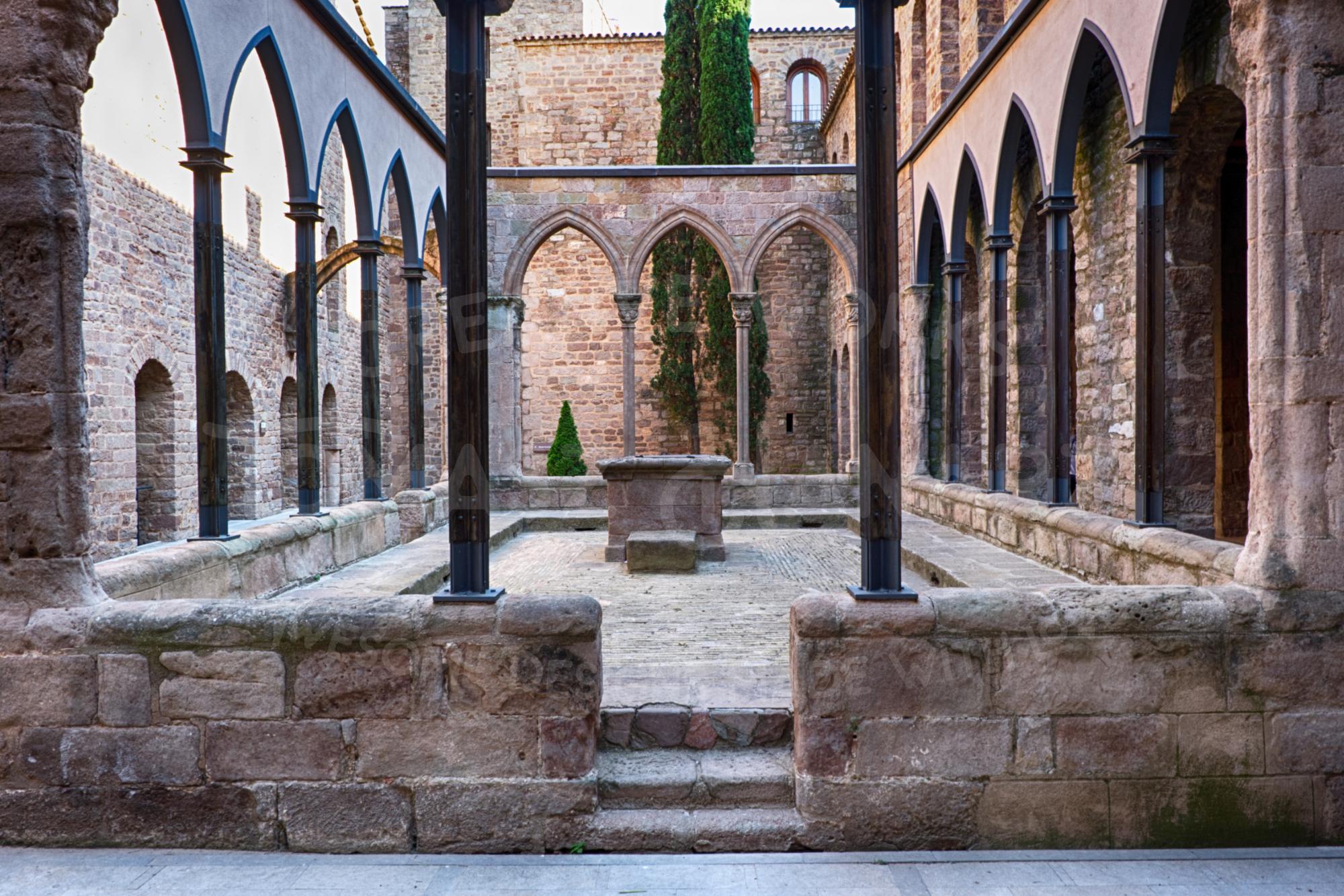 Inner Courtyard Of Cardona Castle 3- Photo example image 1