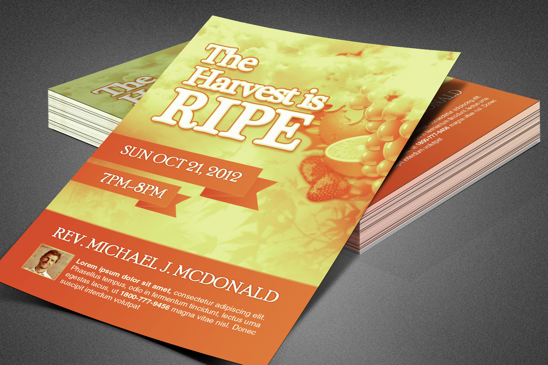 Harvest is Ripe Church Flyer example image 6