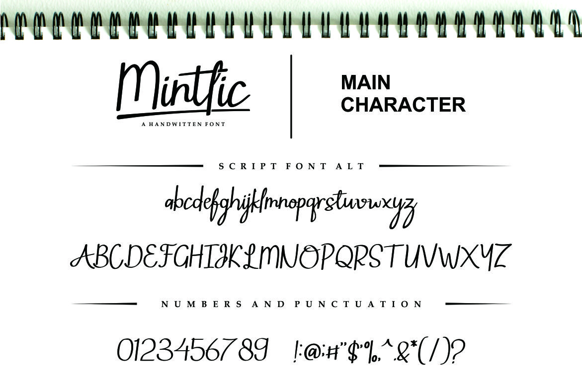 Mintlic Script Font example image 5