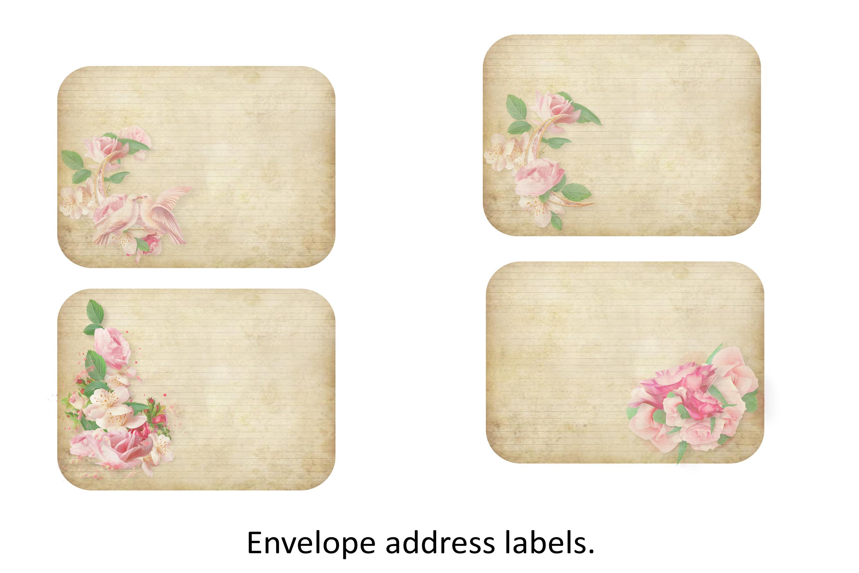 4 Shabby Chic Envelopes with inserts Ephemera example image 5