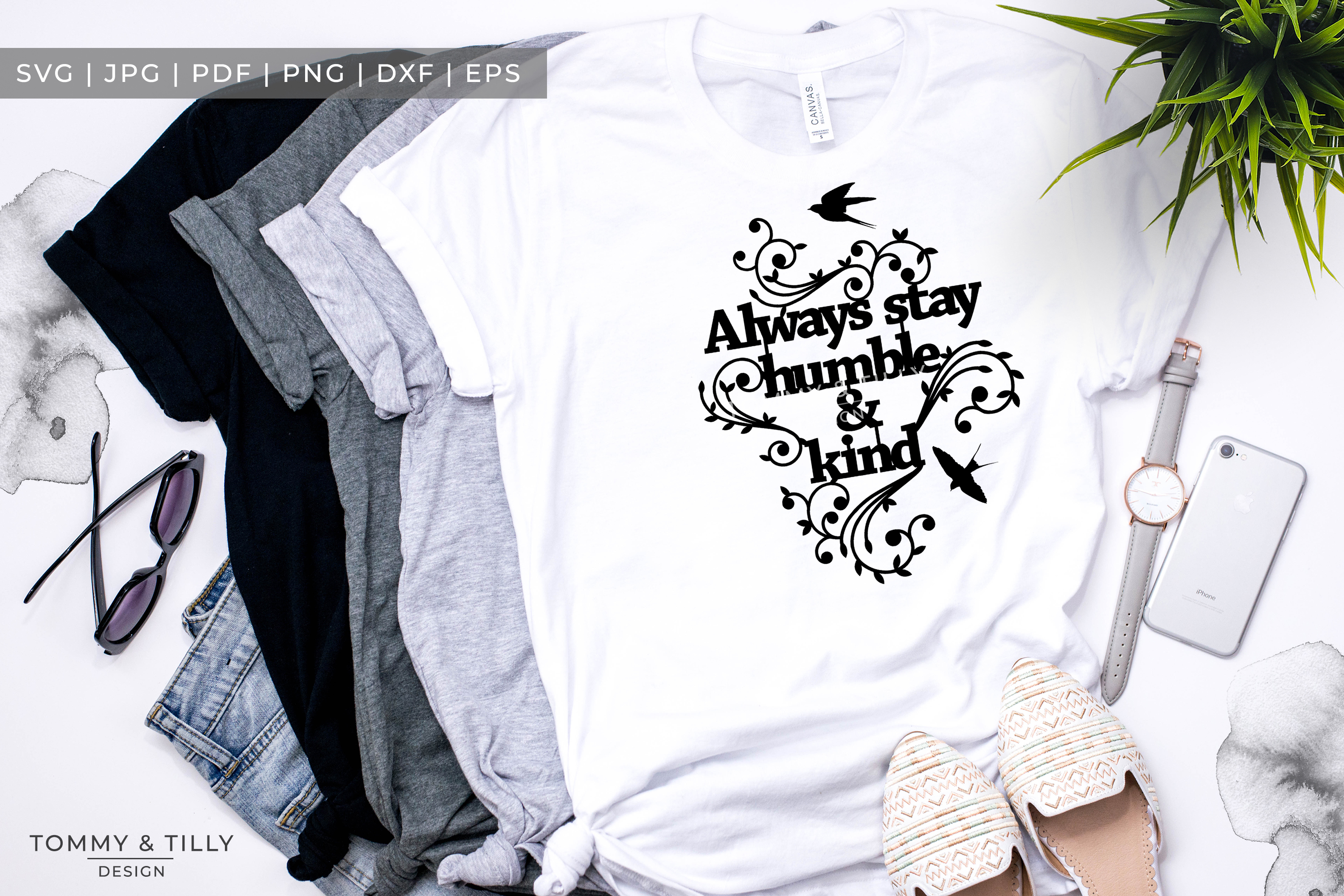 Always stay humble & kind - Papercut SVG EPS DXF PNG PDF example image 4