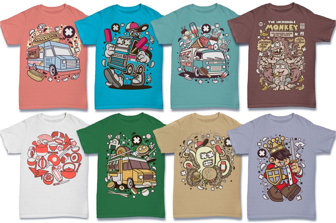 Cartoon Vector #6 Tshirt Design Bundle example image 13