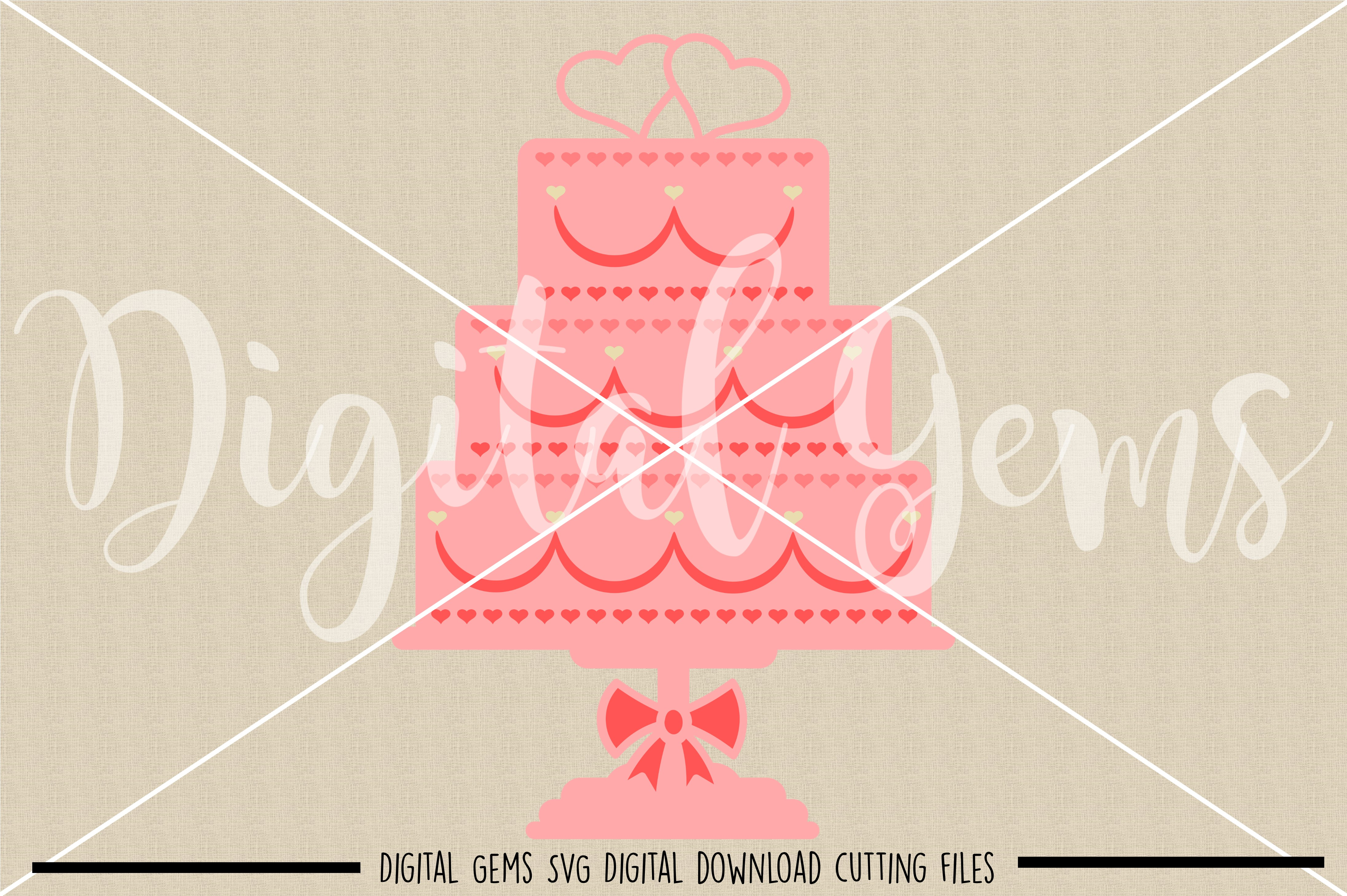 Wedding cake SVG / PNG / EPS / DXF Files example image 2