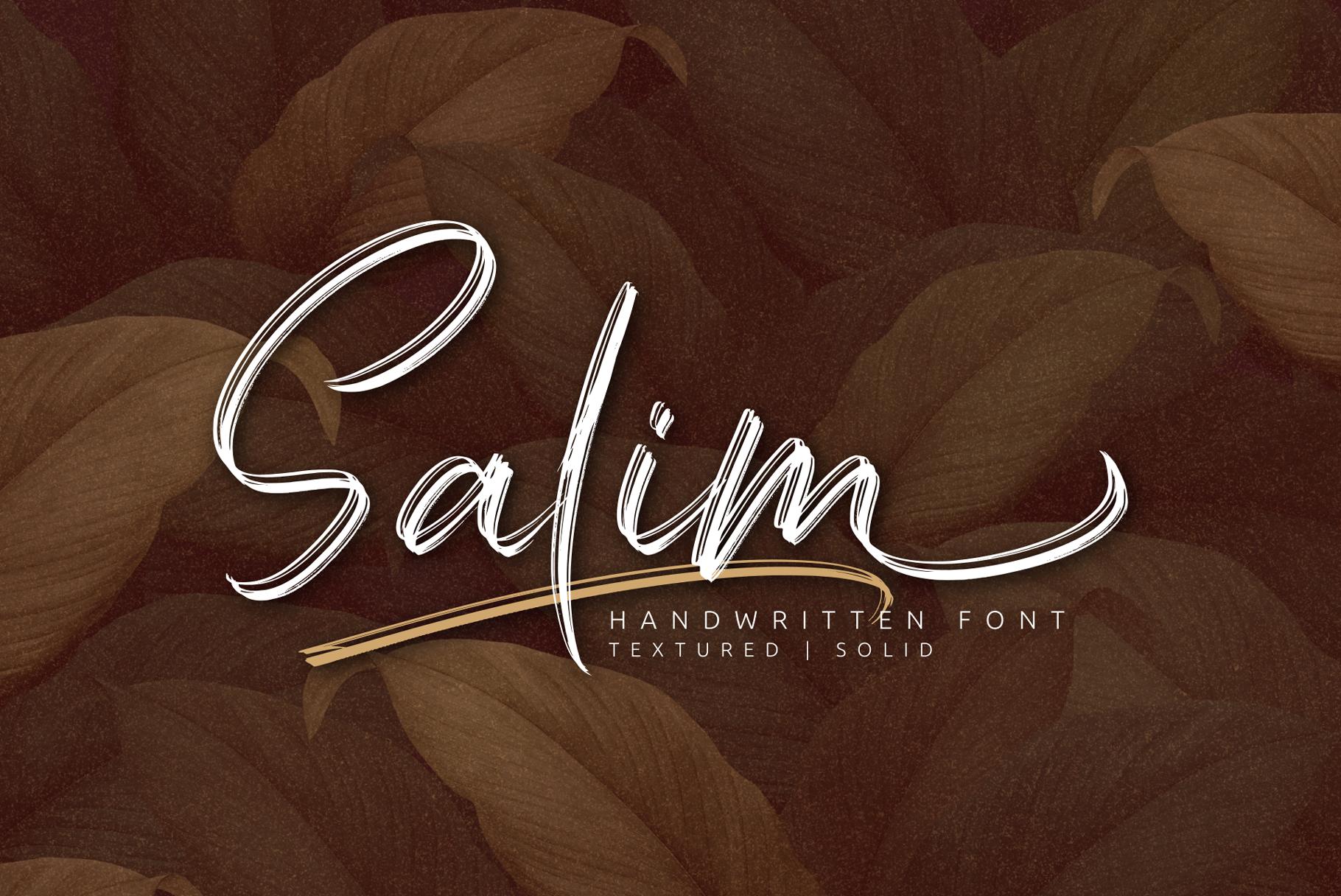 Salim - Handwritten Font example image 2