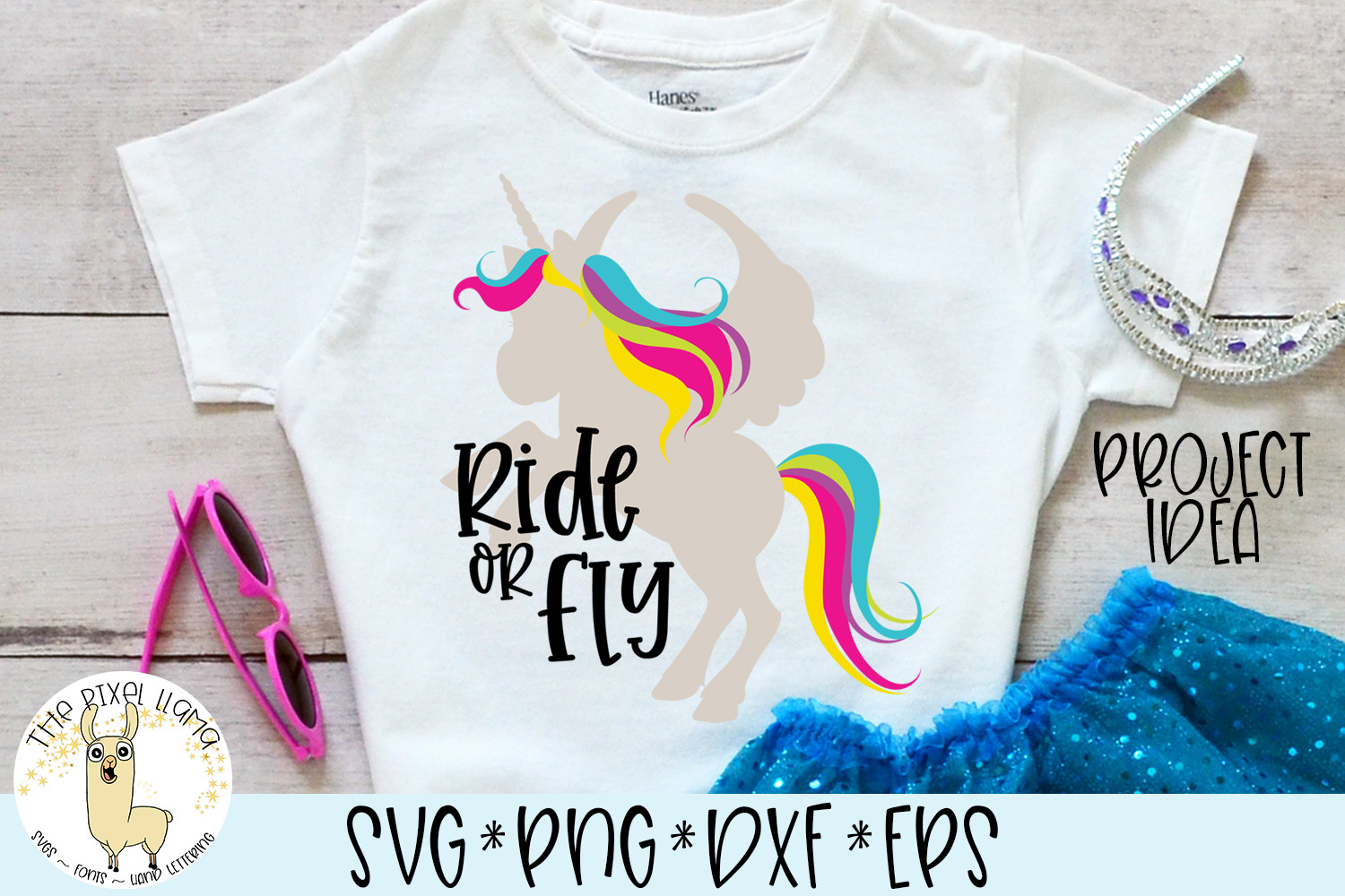 Ride or Fly Unicorn SVG Cut File example image 1