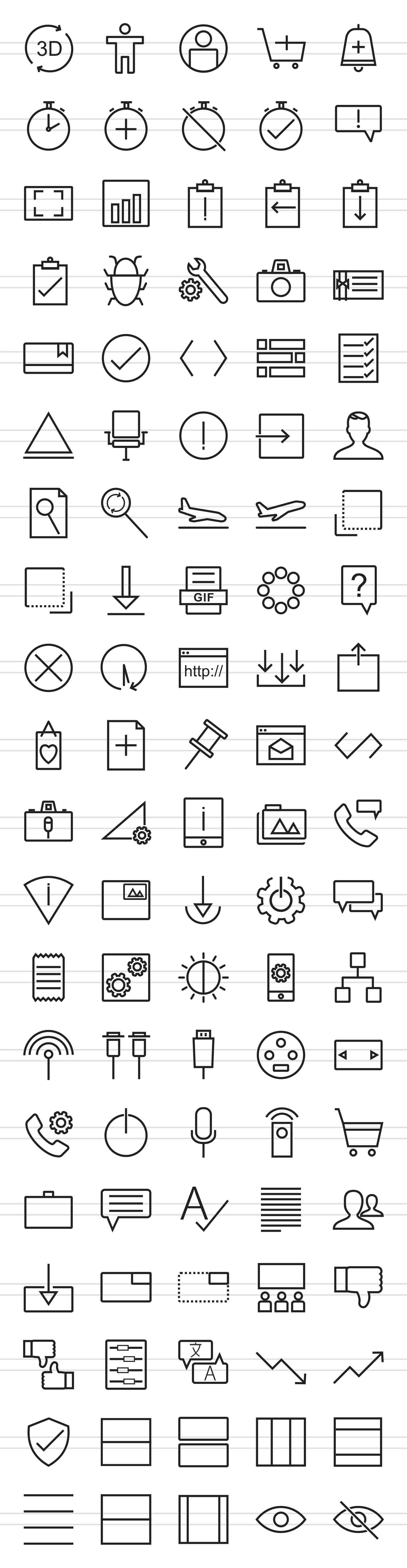 100 Material Design Line Icons example image 2