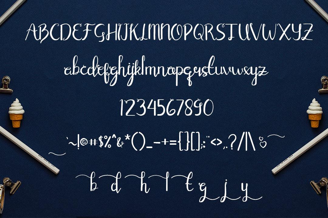 elianata script handwritten font example image 2