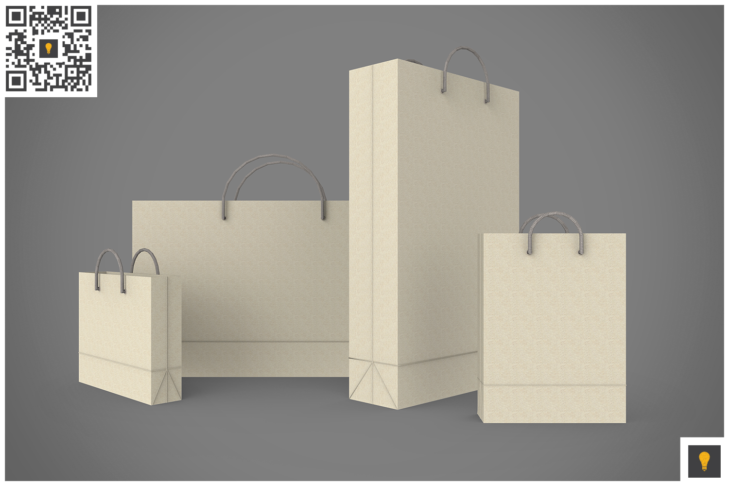 Shopping Bag 3D Render example image 16