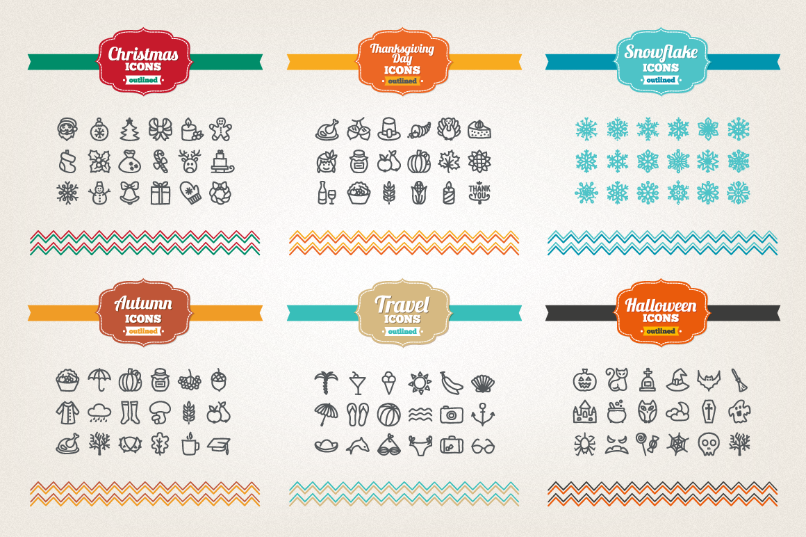 83 Off - Hand Drawn Icons Bundle example image 7