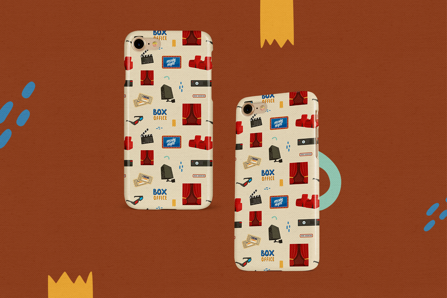 Movie & Cinema Vector Clipart and Seamless Patterns example image 6