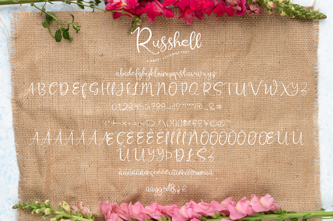 Russhell a sweet lettering font example image 6