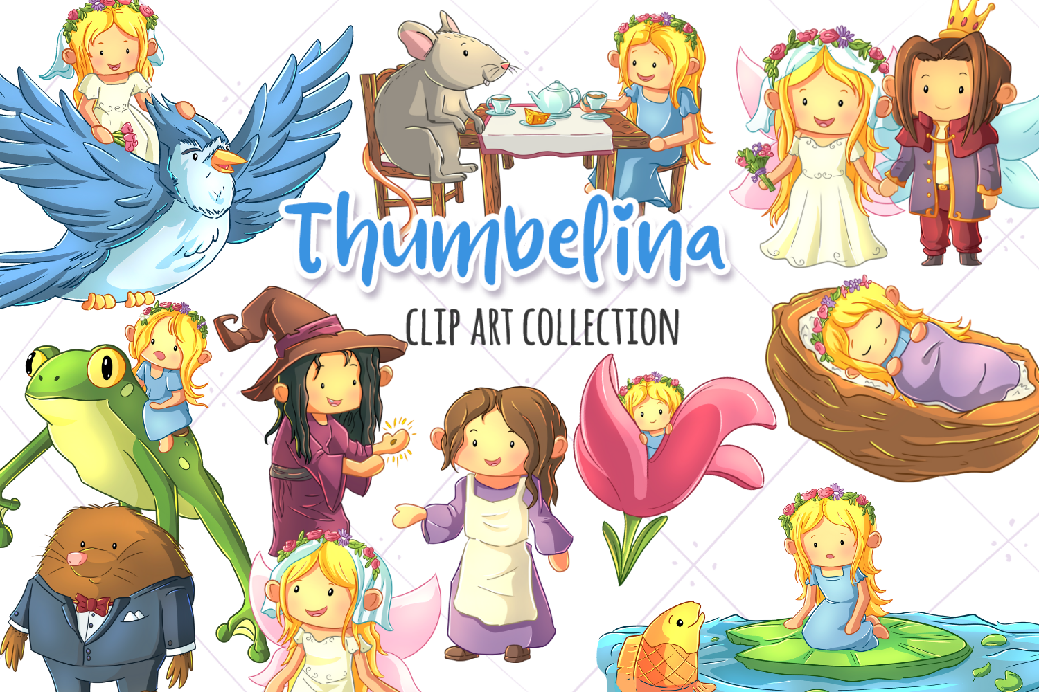 Thumbelina Fairy Tale Clip Art Collection