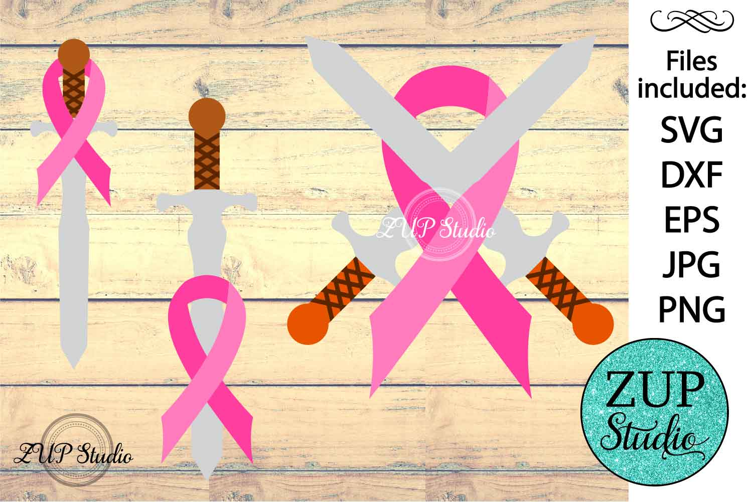 Breast Cancer Ribbon cutting files svg 8 example image 1