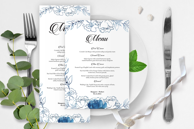 wedding menu card templates Togo wpart