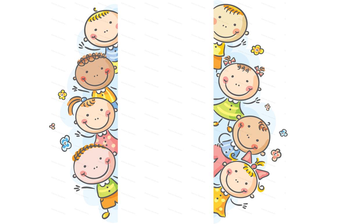 Happy Cartoon Kids Bundle, children doodle, kids doodle example image 20