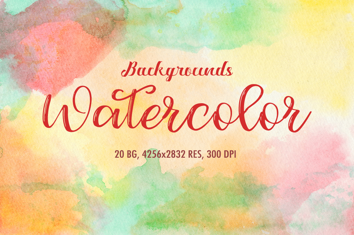 20 Watercolor Backgrounds 01 example image 1