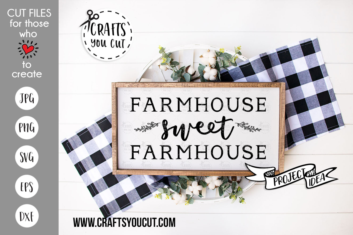 Farmhouse Sweet Farmhouse - A Rustic SVG Cut File example image 1