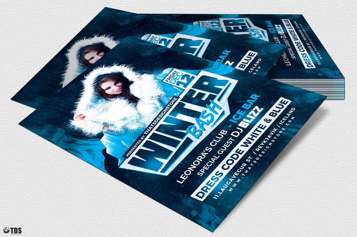 Winter Bash Flyer Template V3 example image 4