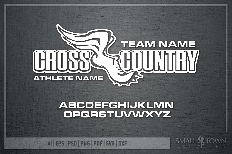 Cross Country, Team, Sports, Logo, PRINT, CUT & DESIGN example image 5