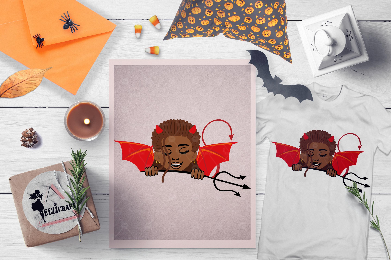 BUNDLE Halloween Afro Girls SVG Cut Files example image 10