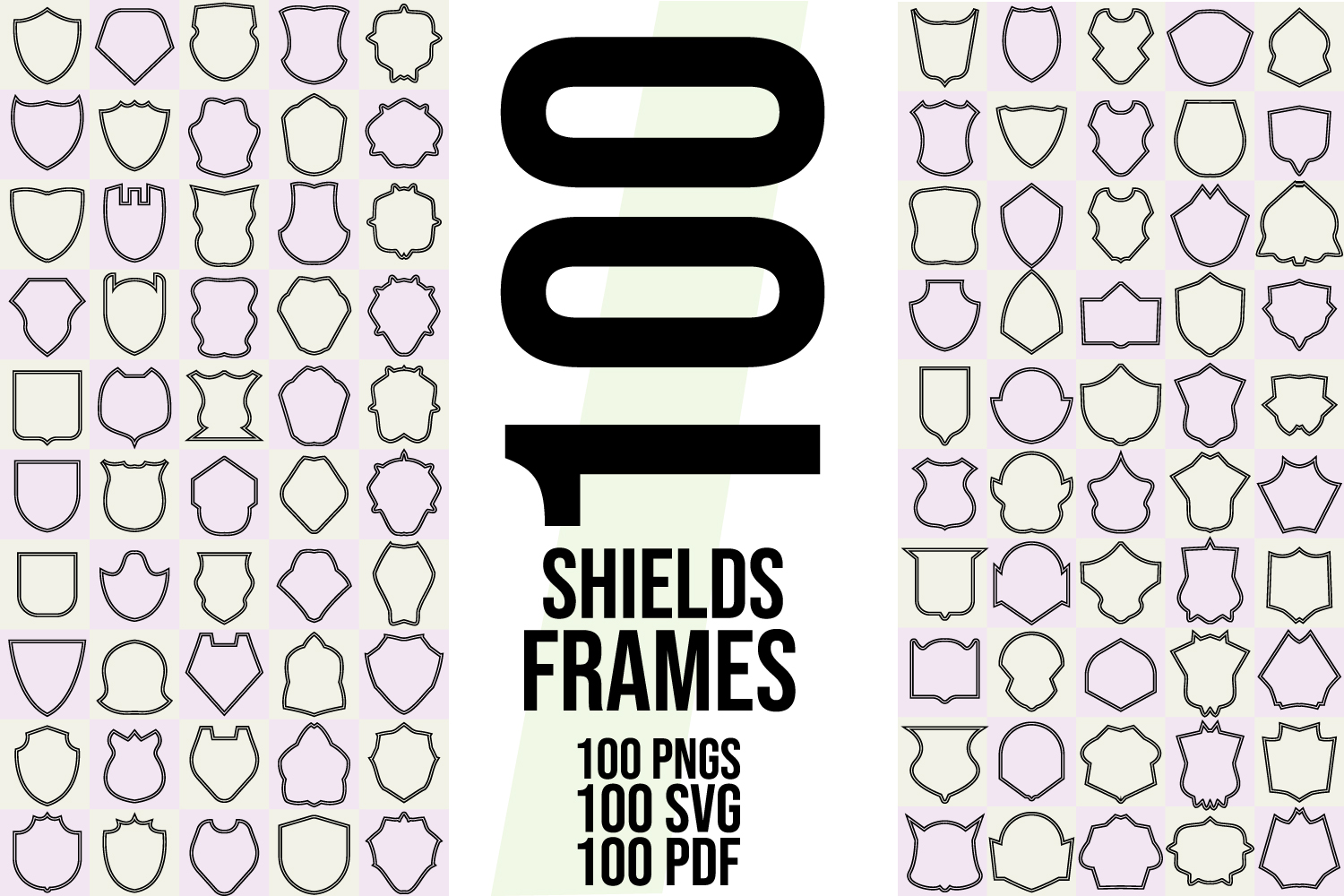 200 Shields and Frames SVG, AI, EPS, PDF, PNG example image 3