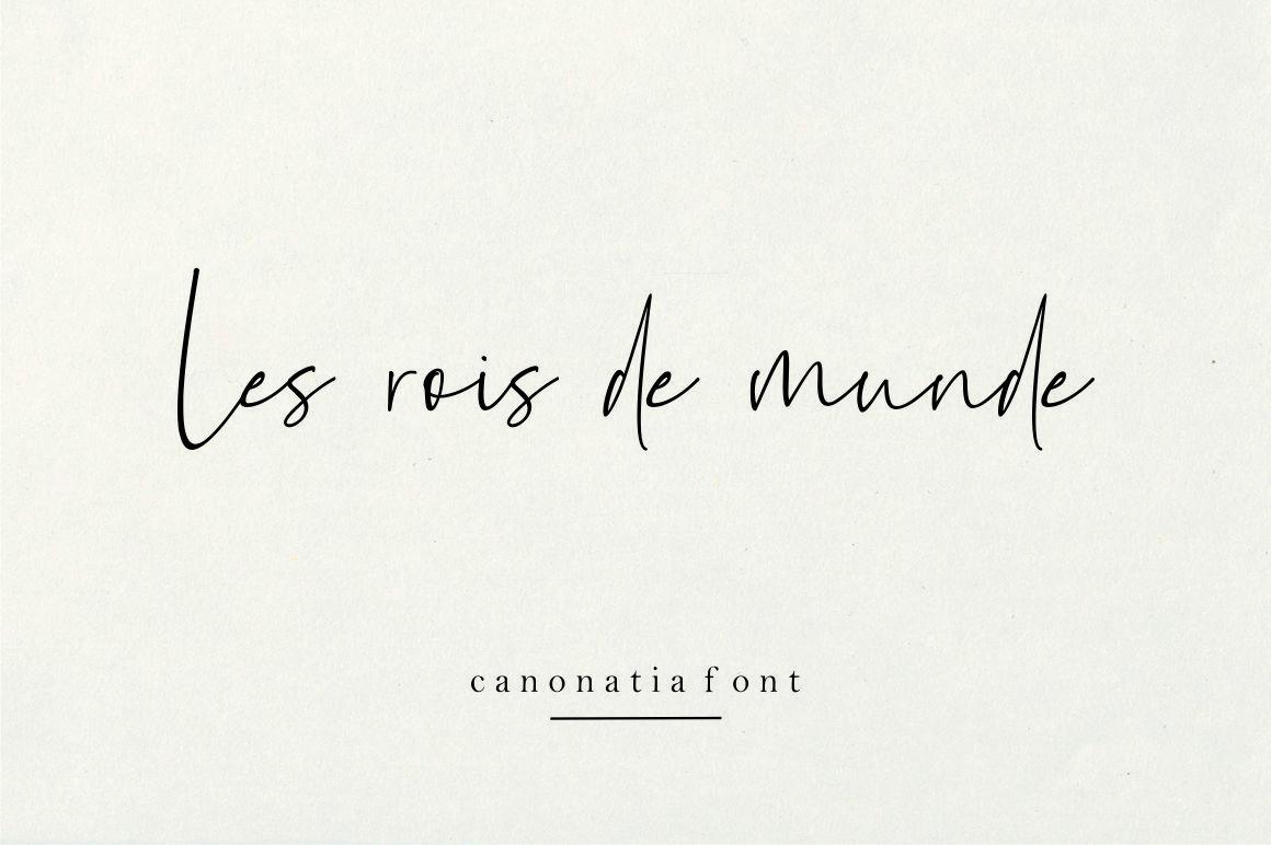 Canonatia // Handwritten Font example image 3