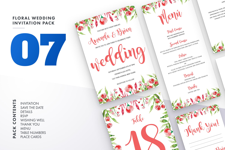 Flower Wedding Invitation Suite Vol.7 / Save Date / Bride example image 1