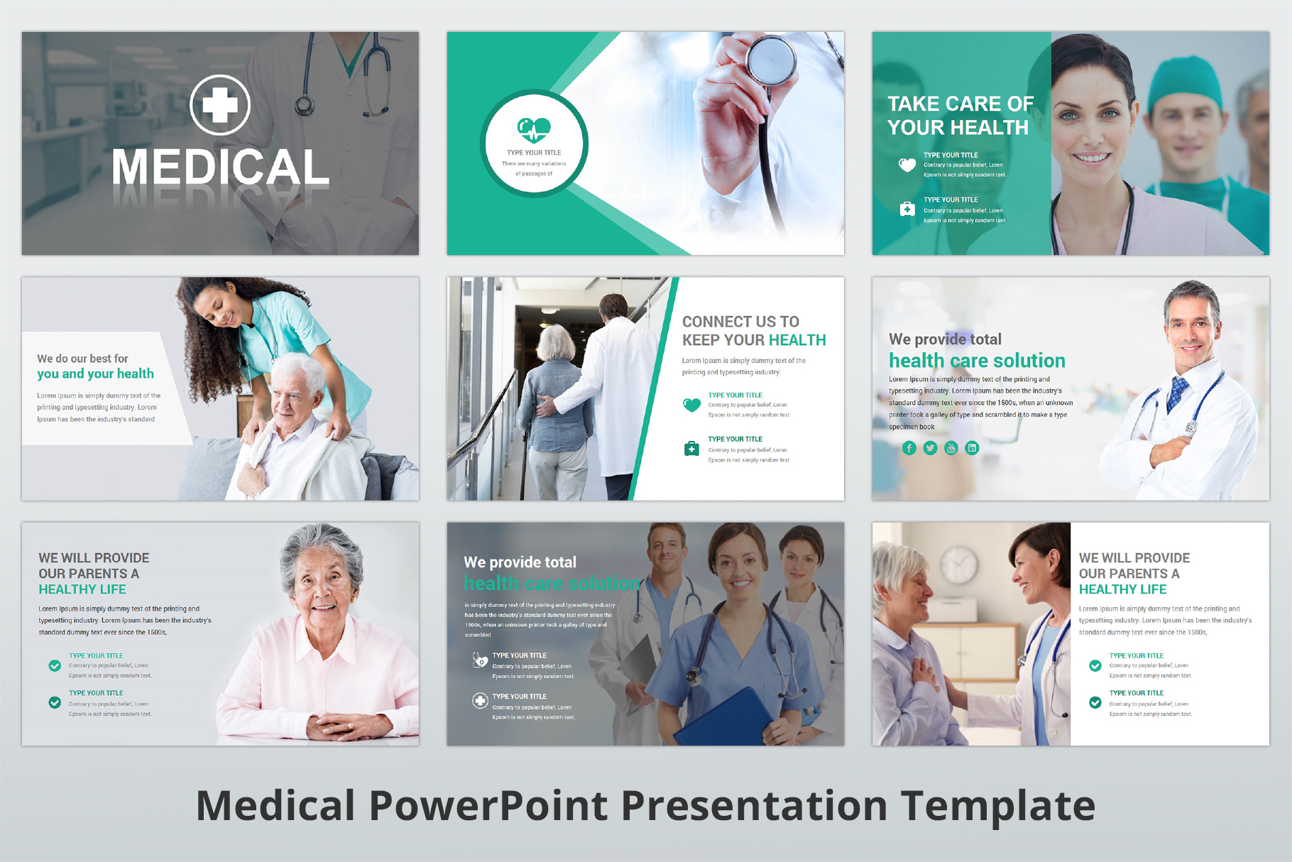 Medical and Healthcare Presentation PowerPoint Template example image 4