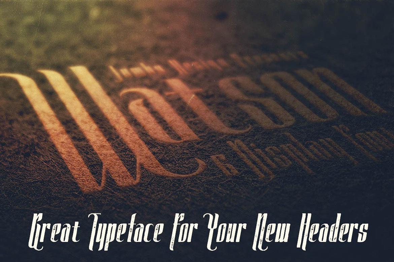 Watson - Vintage Display Font example image 4