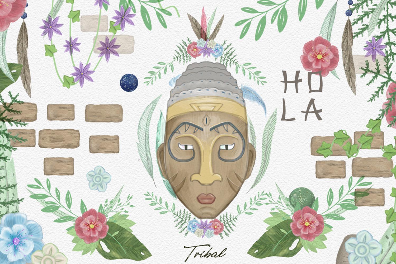 Aztecs. Tribal Set. part2 example image 2