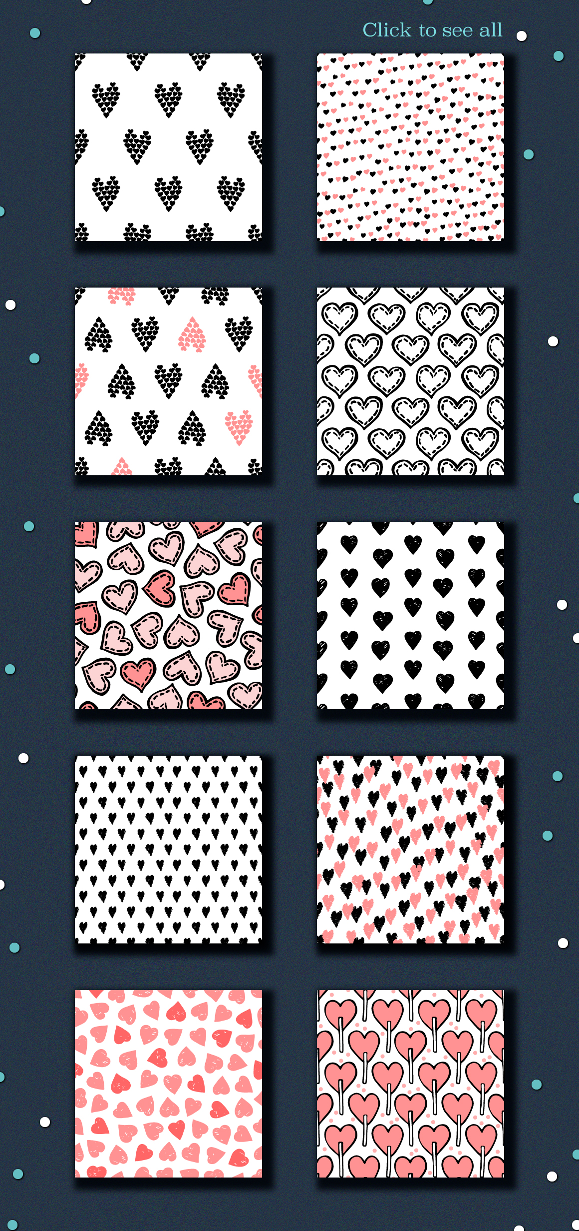 10 Seamless hand drawn vector texture to Valentine's day example image 2