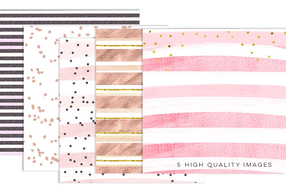 Rose Gold Backgrounds, Rose Gold Digital Paper, wedding card paper, Rose Gold Wedding, pink foil digital, metallic gold paper, patterns example image 2