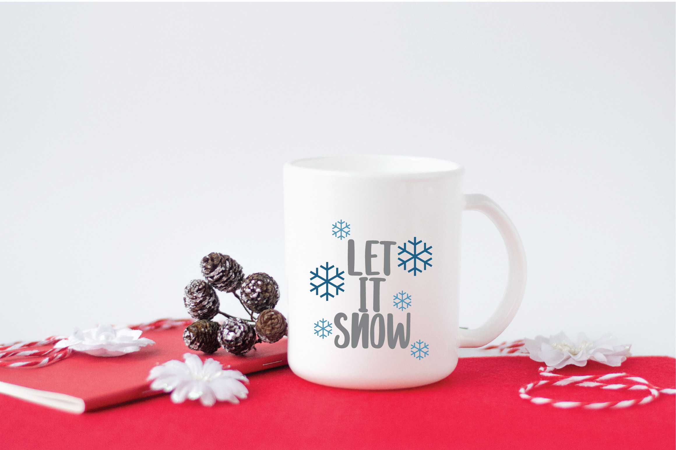 Let it Snow SVG Cut File - Christmas SVG example image 4