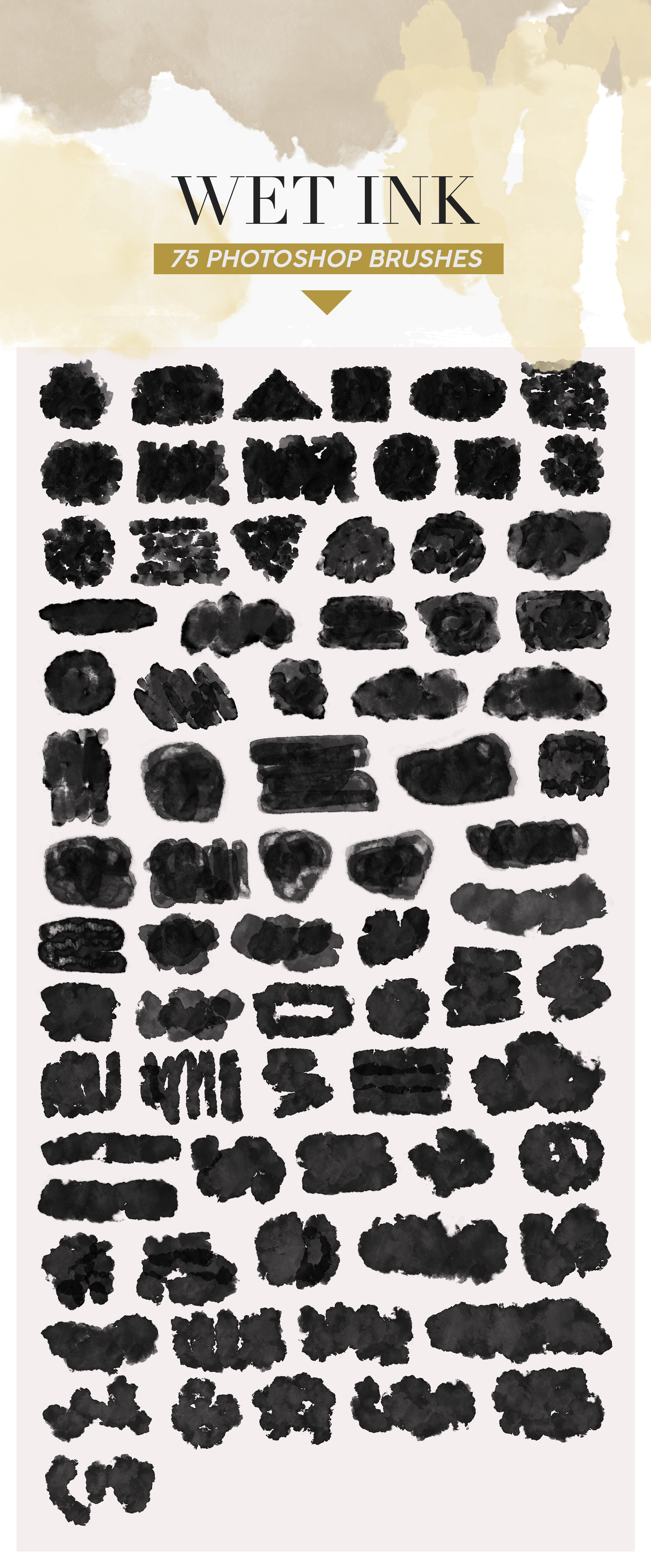 487 Ink Shapes Photoshop Brushes example image 9