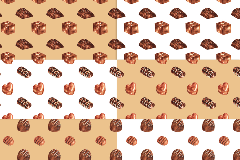 Chocolates Watercolor Clipart example image 3