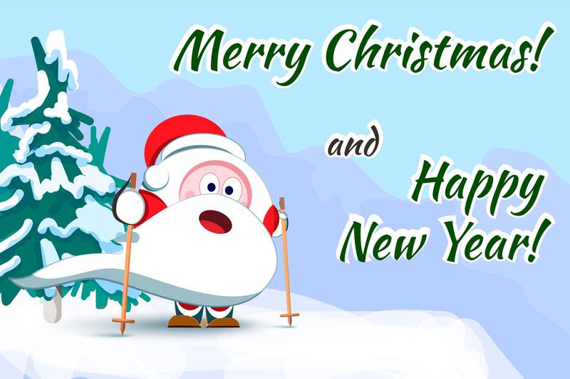 Santa Claus Christmas character set of 17 illustrations example image 7