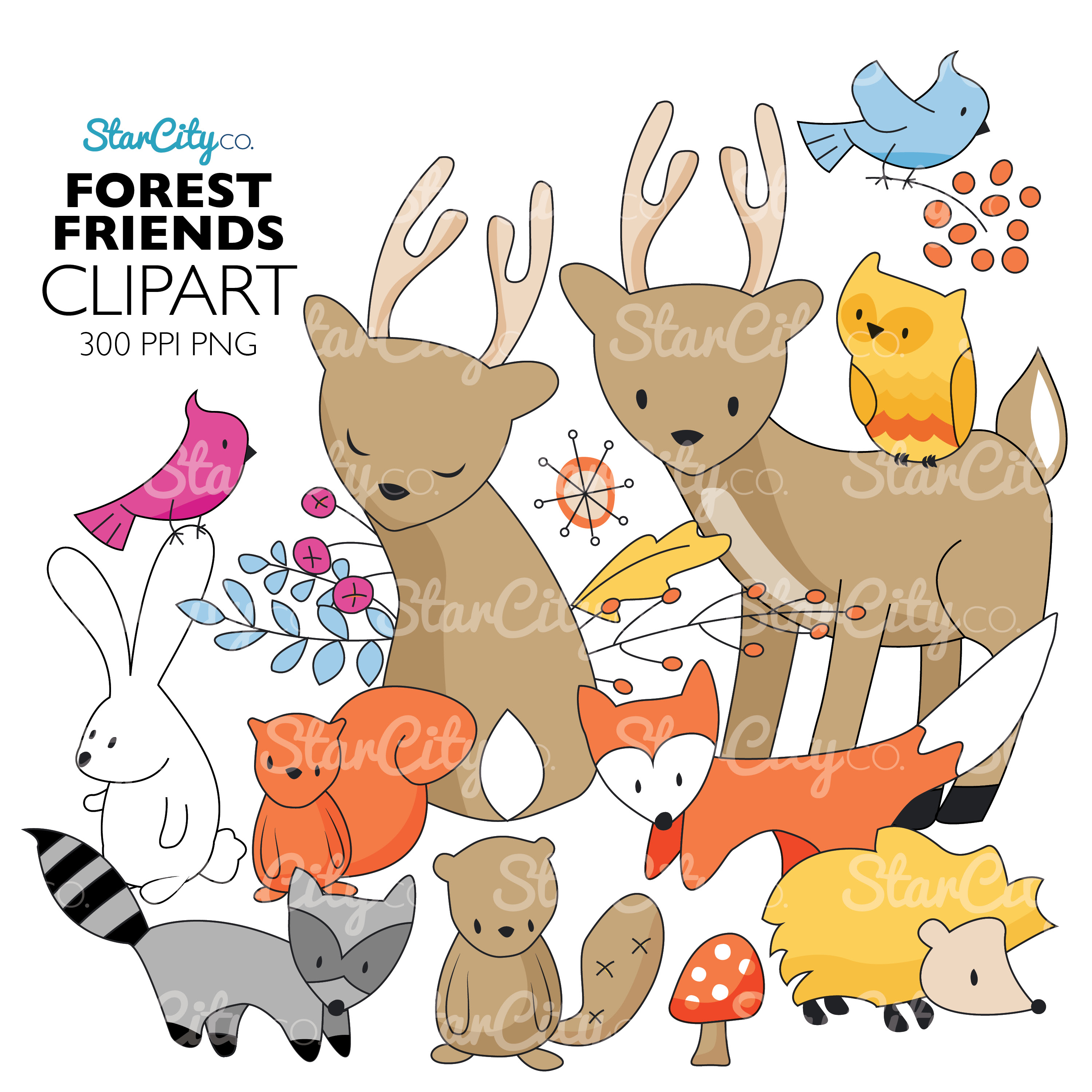 Forest Friends Clip art Graphics example image 1