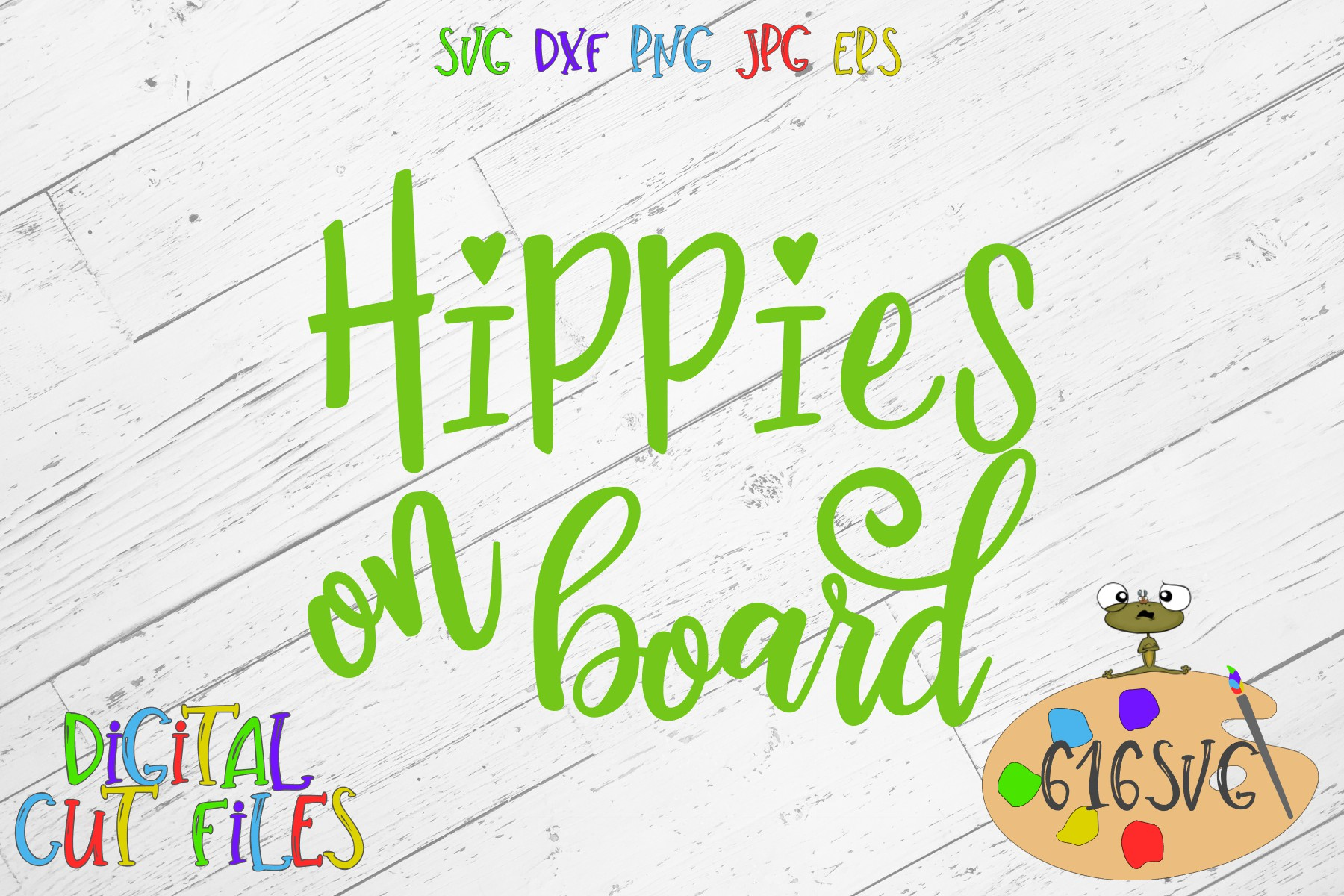 Hippies On Board SVG example image 2