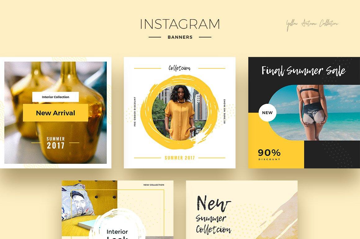 Yellow Autumn Social Media Designs example image 2