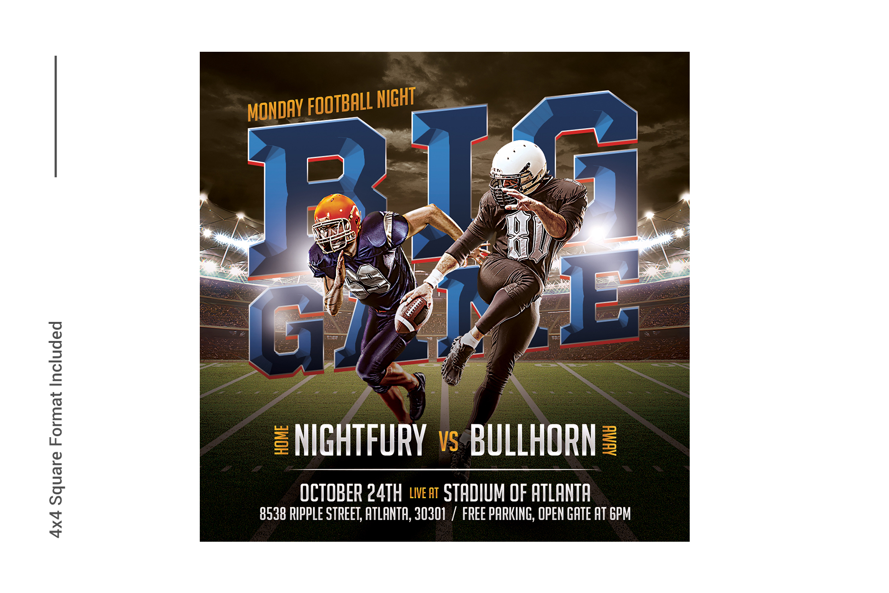 American Football Flyer Template example image 5
