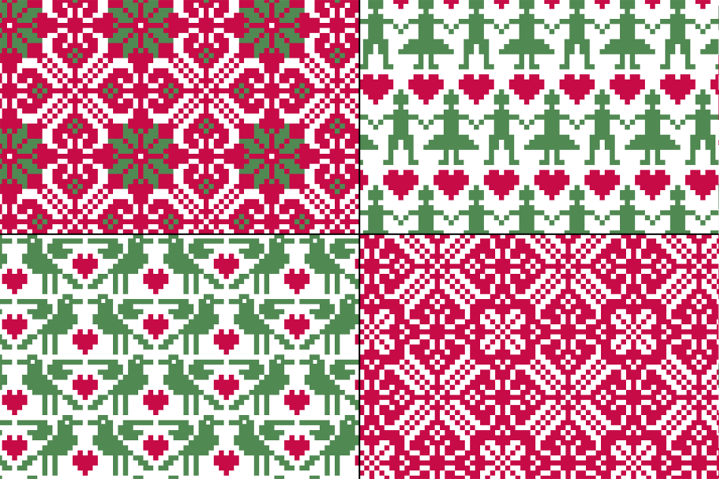 Seamless Nordic Patterns & Graphics example image 4